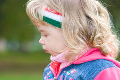 Little girl outside portrait Royalty Free Stock Photo
