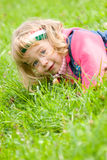 Little girl outside portrait Royalty Free Stock Images