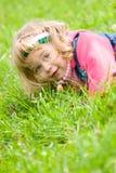 Little girl outside portrait Royalty Free Stock Images