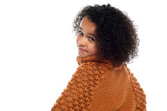 Little girl with over sized sweater Royalty Free Stock Image