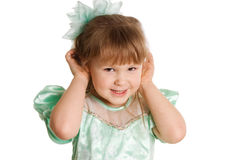The little girl overhears Royalty Free Stock Images