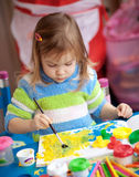 Little girl painting Royalty Free Stock Photos