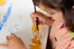 Little girl painting Royalty Free Stock Photo