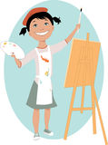 Little girl painting a picture Stock Photography