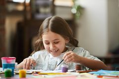 Little Girl Painting Picture stock images