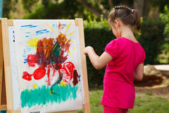 Little Girl Painting stock photography
