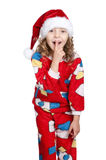 Little girl in pajamas Royalty Free Stock Photo