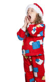 Little girl in pajamas Royalty Free Stock Image