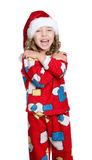 Little girl in pajamas Stock Photography