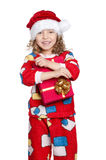 Little girl in pajamas Royalty Free Stock Photos