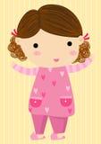 Little girl in pajamas. Illustration little girl in pajamas Royalty Free Stock Photos