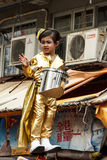 Little girl of Parade-in-the-air Royalty Free Stock Images