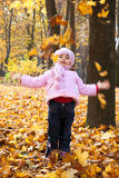 Little girl in park Royalty Free Stock Images