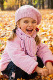 Little girl in park Royalty Free Stock Photos