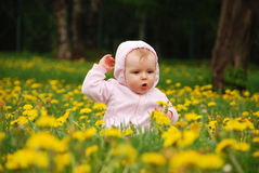 Little girl in park Stock Image