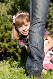 Little girl in park Royalty Free Stock Photography