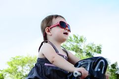 Little Girl at Park Royalty Free Stock Images