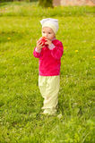 Little girl in park Stock Photos