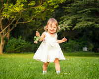 Little girl in the park Stock Images