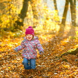 Little girl in the park Stock Photography