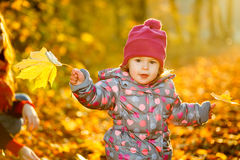Little girl in the park Stock Photo