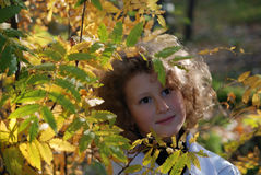 Little girl in a park Royalty Free Stock Photography