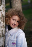 Little girl in a park Stock Photography
