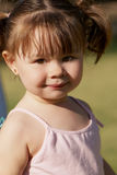 The little girl in park Royalty Free Stock Photo
