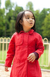 Little girl in a park Royalty Free Stock Images