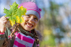 Little girl in park. Royalty Free Stock Photography