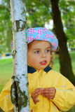 Little girl in park Stock Photography