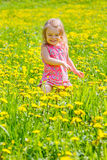 Little girl in the park Royalty Free Stock Image