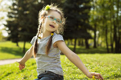Little girl in park Royalty Free Stock Photo