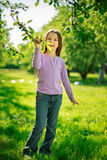 Little girl in park Stock Images
