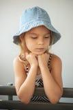 Little girl in park Stock Photos