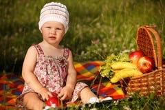 Little girl in park Stock Image