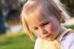 Little girl in a parkL Royalty Free Stock Photography