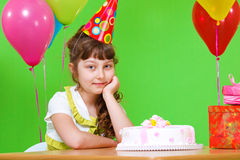 Little girl in a party hat Stock Photography