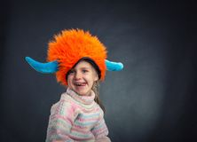 Little girl in party hat Royalty Free Stock Images