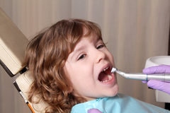 Little girl patient Stock Photo
