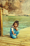 Little girl in peaceful atmosphere royalty free stock photos