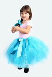 Little Girl Performing in Tutu Skirt Stock Photo