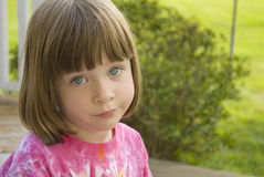 Little Girl With a Perplexed expression Stock Photos