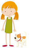Little girl and pet dog Stock Image