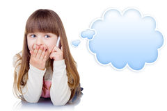Little girl with phone Royalty Free Stock Photos