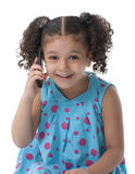 Little Girl With Phone Call Royalty Free Stock Image