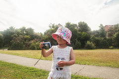 Little girl photographs Royalty Free Stock Images