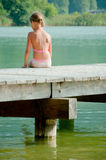 Little Girl On Pier Royalty Free Stock Images