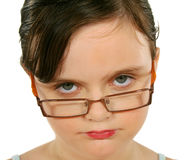 Little Girl With Piercing Eyes Royalty Free Stock Image