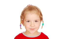 Little girl with pigtail Royalty Free Stock Image